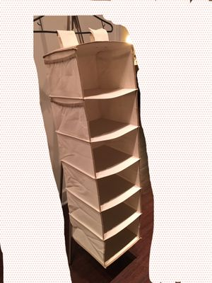 Closet Hanging Organizer Foldable 6 Shelves (2 included) for Sale in Kansas City, MO