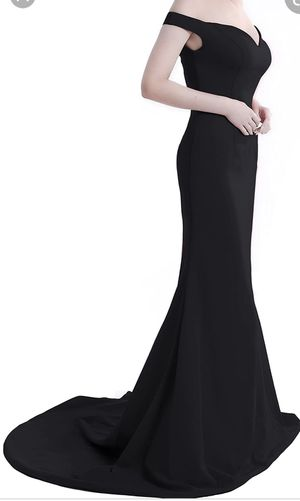 Wemarry, Women's Plus Size Clothes, Off the Shoulder, Mermaid, Black Evening Dress, Size 20/22 for Sale in Anaheim, CA
