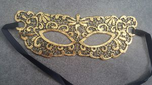 Brand New Double Sided Masquerade mask -Gold and Black for Sale in San Diego, CA