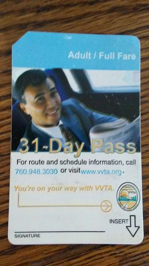 Month bus pass for Sale in DEVORE HGHTS, CA