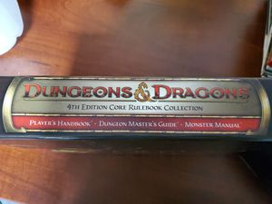 Dungeons & Dragons 4th edition Core Rulebook Collection for Sale in Mesa, AZ