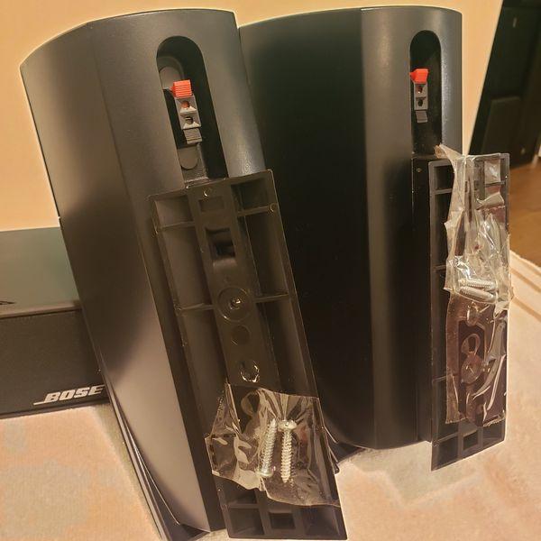 3PCS BOSE 161 MOUNTING SPEAKER SYSTEM PAIR & BOSE VCS-10 CENTER CHANNEL SPEAKER