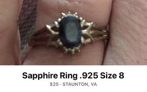 Sapphire Ring - Size 8 for Sale in Staunton, VA