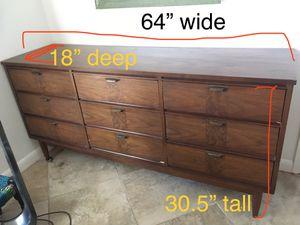 Mid century 9-drawer dresser and mirror for Sale in Vero Beach, FL