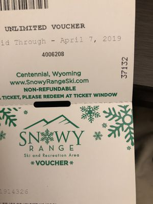 X8 snowy range ski lift tickets 25 each for Sale in Fort Collins, CO