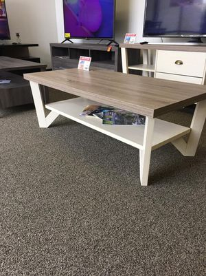 Grace Coffee Table, Dark Taupe and Ivory for Sale in Downey, CA
