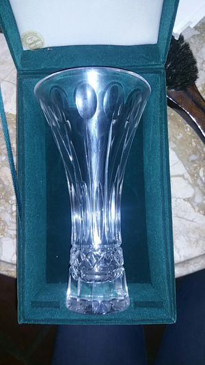 Waterford neiman marcus crystal flared vase for Sale in Houston, TX