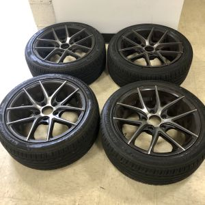 """17"""" Black Rims with Tires -Set of 4 for Sale in Arlington, VA"""