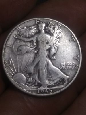 Beautiful 1945 SILVER walking liberty half dollar for Sale in Denver, CO