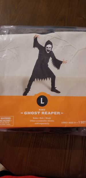 Ghost Reaper Costume Kids Large for Sale in Fort Myers, FL