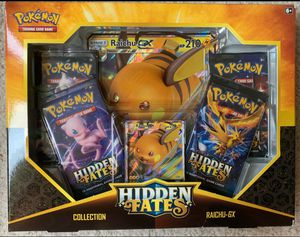 Pokemon cards Hidden Fates GX Exclusive Box Sealed Set Raichu for Sale in Pasadena, TX