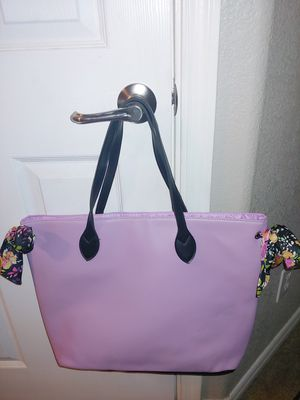 Large Pink Tote Bag with Double Side Bows for Sale in Tempe, AZ