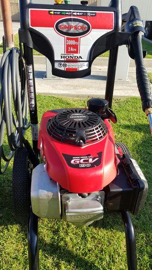 SIMPSON 3000 PSI GAS PRESSURE WASHER WITH HONDA ENGINE for Sale in San Bernardino, CA