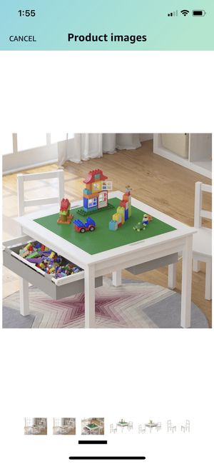 🥰🥰 2-in-1 Kids Multi Activity Lego Table, Desk and 2 Chairs Set with Storage 🥰🥰 for Sale in Las Vegas, NV