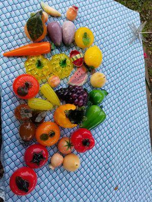 Antique glass fruit and vegetables for Sale in Sandston, VA