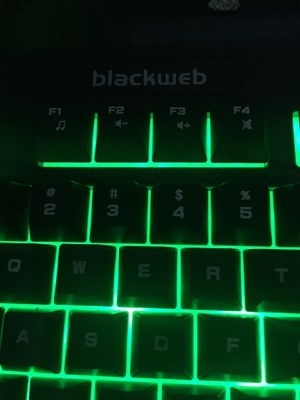Blackweb gaming keyboard for Sale in Fairfield, CA