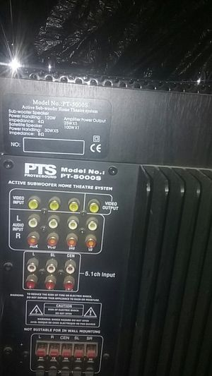 PTS subwoofer home theatre system for Sale in Taylorsville, UT