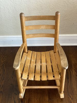 Antique Solid Wood Rocking Chair for Child for Sale in Miramar, FL