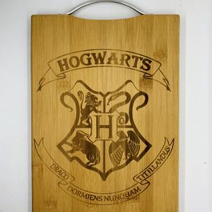 hogwarts houses Harry potter laser engraved bamboo high quality cuttingboard valentines gift for Sale in Los Angeles, CA