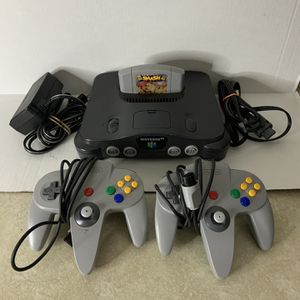 NINTENDO 64 W/ALL CABLES + SUPER SMASH BROS for Sale in Bartow, FL