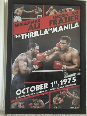 """Ali vs Frazier """"The Thrilla in Manila"""" Framed Collectible Poster for Sale in Alexandria, VA"""
