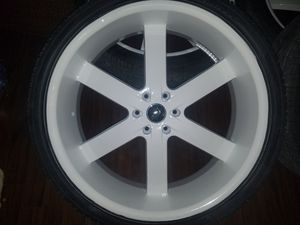 GMC Chevy Escalade Yukon Tahoe Wheels Rims white 26inches will fit all GM Model SUV $2000obo for Sale in Accokeek, MD