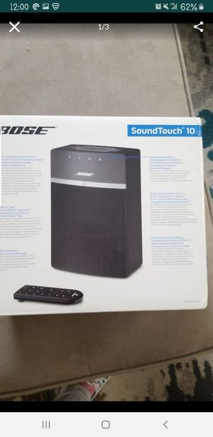 Bose soundtouch 10wireless music system for Sale in Trenton, NJ