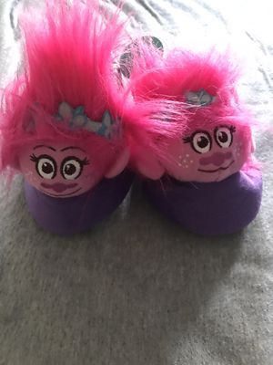 Brand new trolls slippers size 11/12 for Sale in Fresno, CA