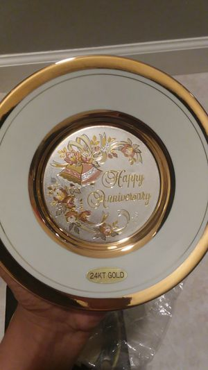 24kt Gold Chokin plate for Sale in North Venice, FL