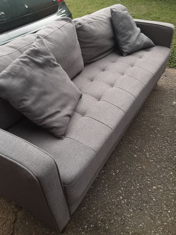 PRACTICALLY NEW GREY SOFA