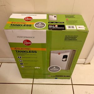 New Sealed Rheem Performance 18 kW Self-Modulating 3.5 GPM Electric Tankless Water Heater. Mod Retex-18 for Sale in Cooper City, FL