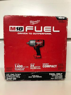 """Milwaukee 1/2"""" HIGH TORQUE IMPACT WRENCH (1400 FT.LB) M18 Fuel/Brushless (2767 20)BRAND NEW!!!Nuevo for Sale in Los Angeles, CA"""