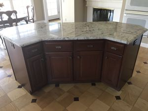 Kitchen - like new condition - Aristokraft cherry cabinets with granite. Price includes (2015) Kitchen Aid refrigerator, GE cooktop, GE double oven, for Sale in Wildwood, MO