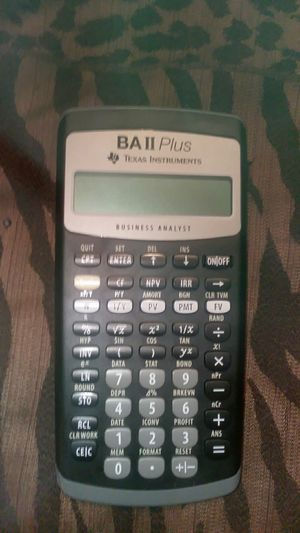 Texas Instruments BAII Plus Business Analyst for Sale in Knoxville, TN