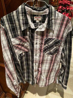 New men True Religion brand dress shirt size 3Xl. for Sale in Fresno, CA