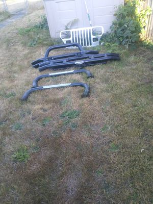Front and back bumpers smittybult plus rocksliders and track bars for Sale in Tacoma, WA