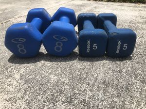 Dumbbell weights 8lb and 5lb for Sale in Hialeah, FL