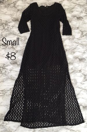 Short/maxi black lace dress size small for Sale in Bothell, WA