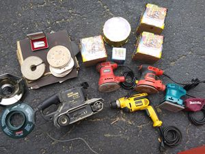 Sanders, drill, left over fire works and more for Sale in Madison, OH