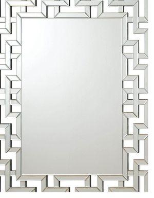 Interlocking Greek Frameless Wall Mirror Silver for Sale in Naples, FL