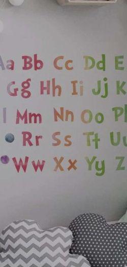 New Alphabet Wall Sticker for Sale in Fontana,  CA