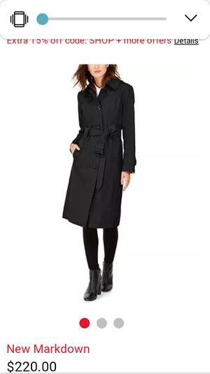 New London Fox Hooded trench XL $75 for Sale in Altadena, CA