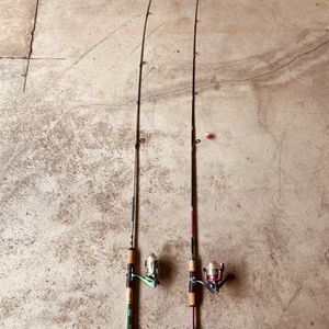 2 Shakespeare Fishing Rod 4-8lb and 6-12lb for Sale in Monterey Park, CA