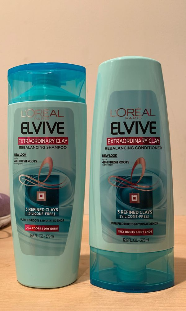 Loreal Extraordinary Clay rebalancing shampoo & conditioner: both for $4