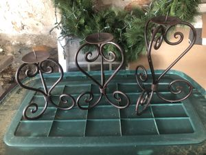 Iron candle holders (3) for Sale in North Andover, MA