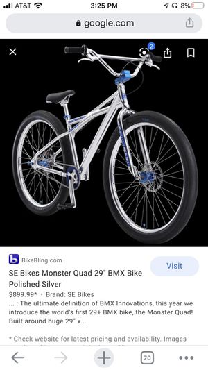 Se bike Monster quad (look below) for Sale in Tracy, CA