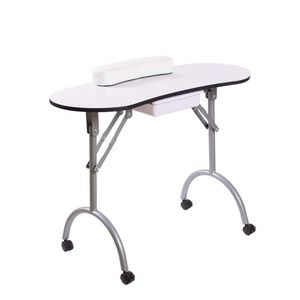 Manicure Table Nail Desk Manicure Nail Table Station Desk Spa Beauty Salon Nail Art Equipment White for Sale in Ontario, CA