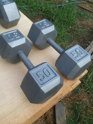 Set of 50Lb Hex Dumbbells. $65 Firm for Sale in Downey, CA