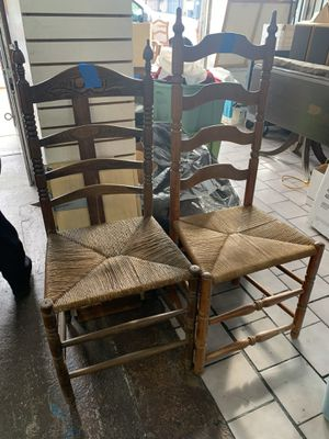 Antique Vintage Wood Ladder Back Chairs for Sale in Los Angeles, CA