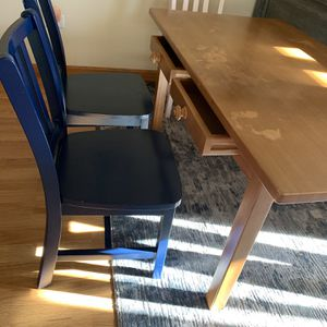 Natural Wood Table And 3 Chairs -THE LAND OF NOD (the set is made of solid wood and it is in great condition ). for Sale in La Grange, IL